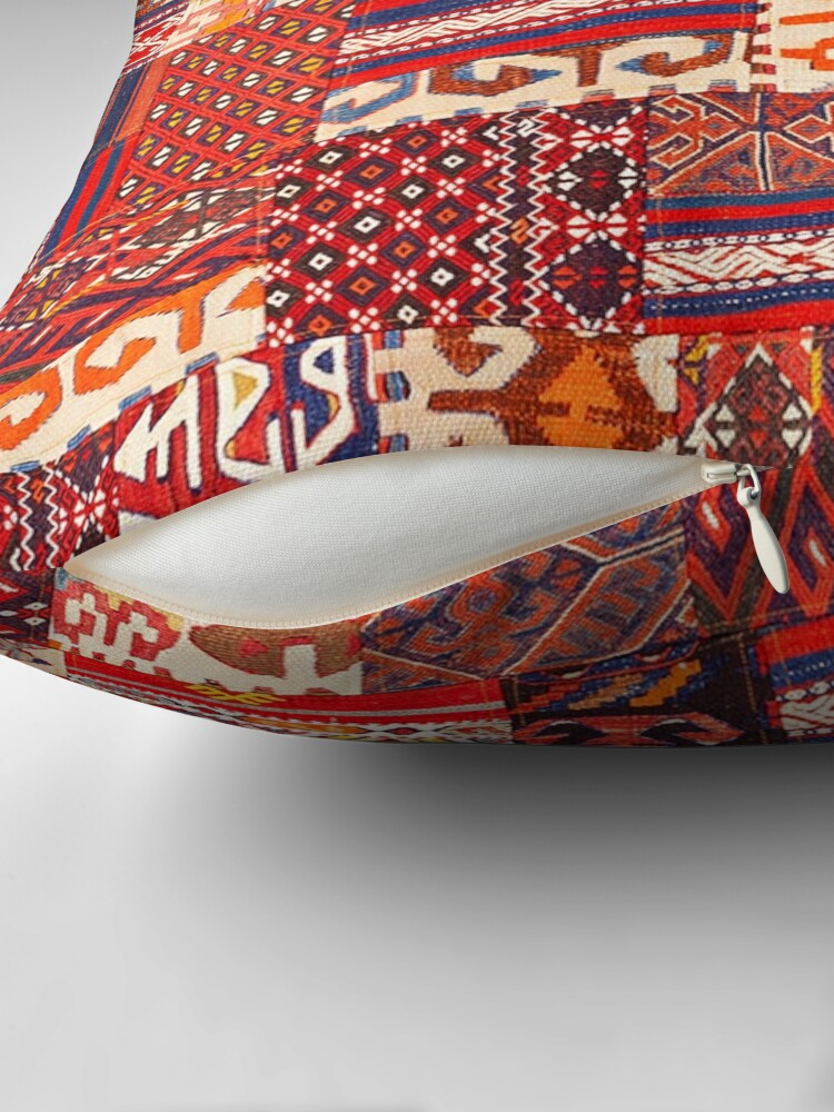 Alternate view of Traditional Retro Vintage Bohemian Collage Moroccan Style  Throw Pillow