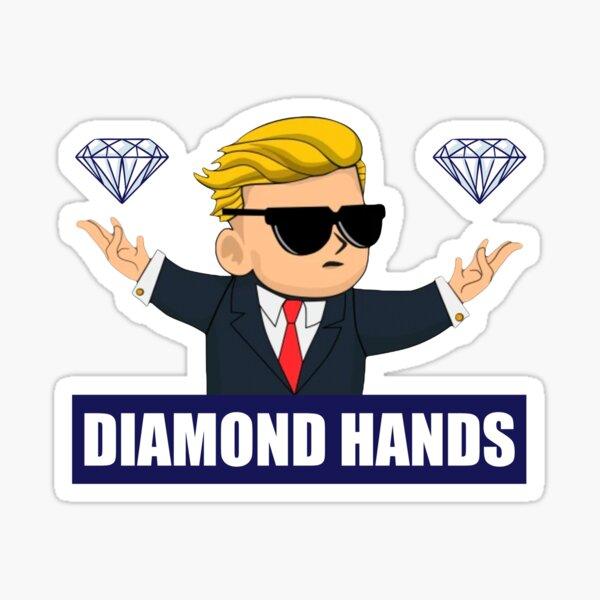 Wallstreetbets Diamond Hands - Stock Market Options Calls Day Trading Bitcoin Sticker