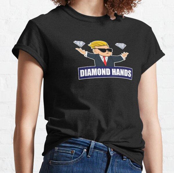 Wallstreetbets Diamond Hands - Opciones del mercado de valores Llamadas al día Trading Bitcoin Camiseta clásica