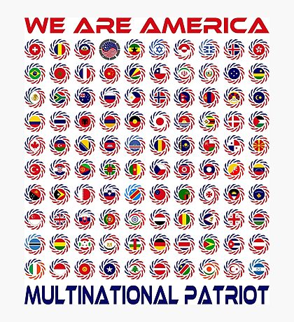 We Are America Multinational Patriot Flag Collective 2.0 Photographic Print