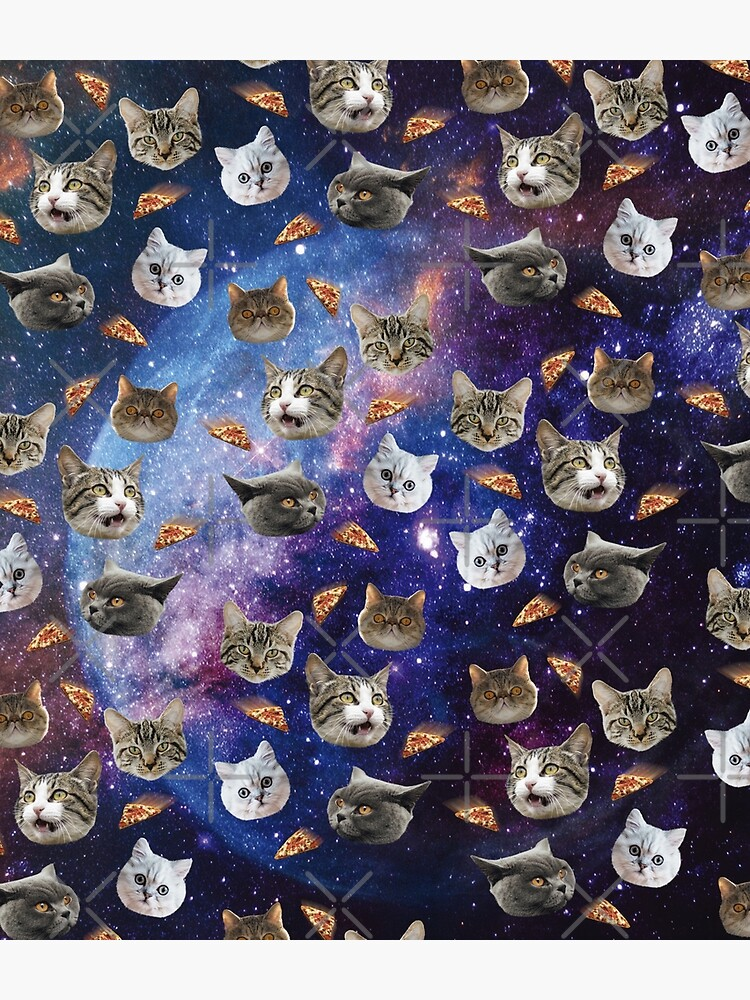 Space Cat Heads by QueenPenguinart