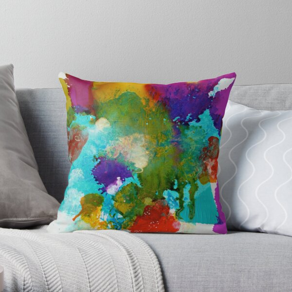 Islands of Colour Throw Pillow