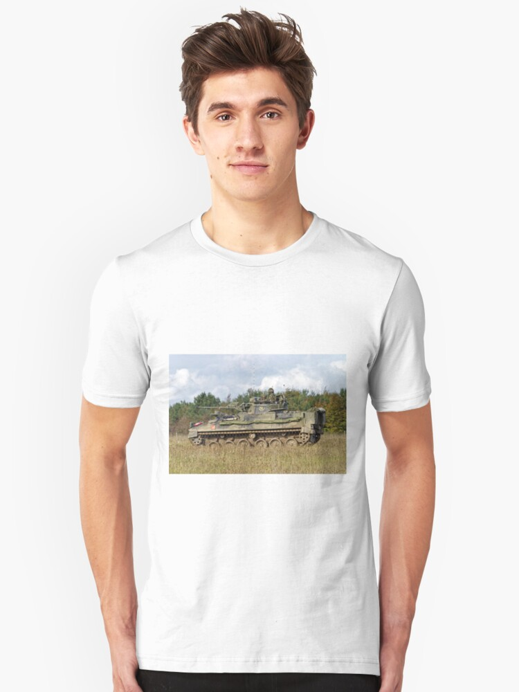 A British Army Warrior Infantry Fighting Vehicle Unisex T-Shirt Front