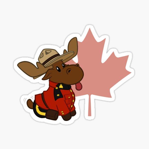 Mountie Moose (Leaf Version) Sticker