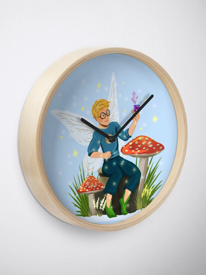 Alternate view of Tommy Tinker Magical Toadstool Bench™ Clock