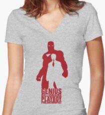 Philanthropist Club Women's Fitted V-Neck T-Shirt