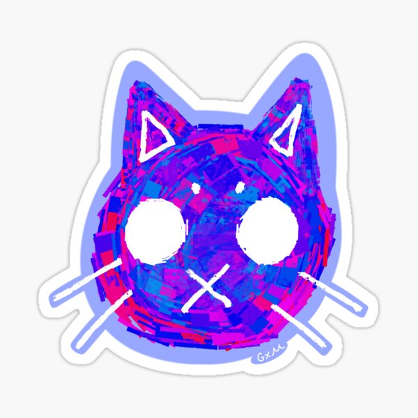 Ugly Cat Void Sticker