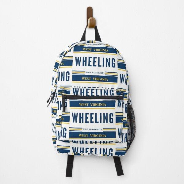 Wheeling West Virginia License Plate WV Home Backpack