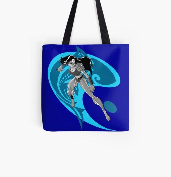 Sistah Shark Tribal Yin All Over Print Tote Bag