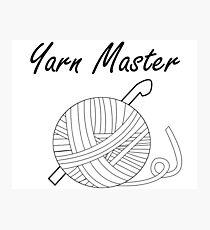 Yarn Master (Crochet) Photographic Print