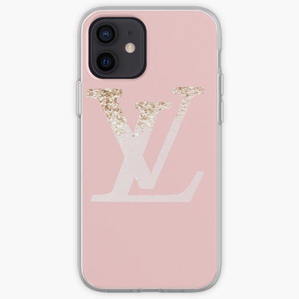 Pink& gold glitter Louis v iPhone Soft Case