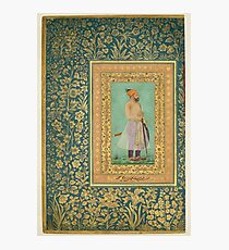 Portrait of Sayyid Abu'l Muzaffar Khan, Khan Jahan Barha, Folio from the Shah Jahan Album Photographic Print