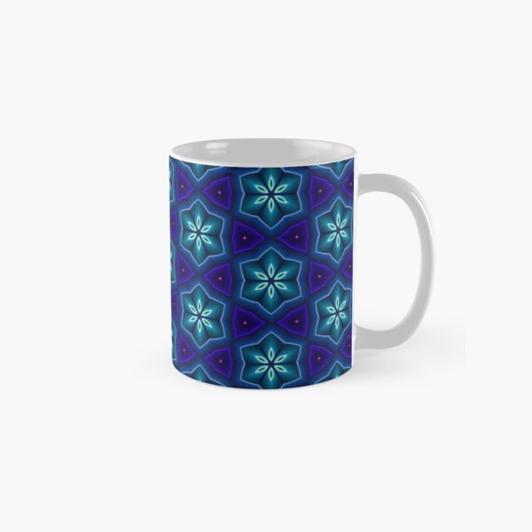 Persian Mosaic Tile with 3D Flower Pattern Classic Mug