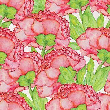 Watercolor Floral pattern by Lidiebug