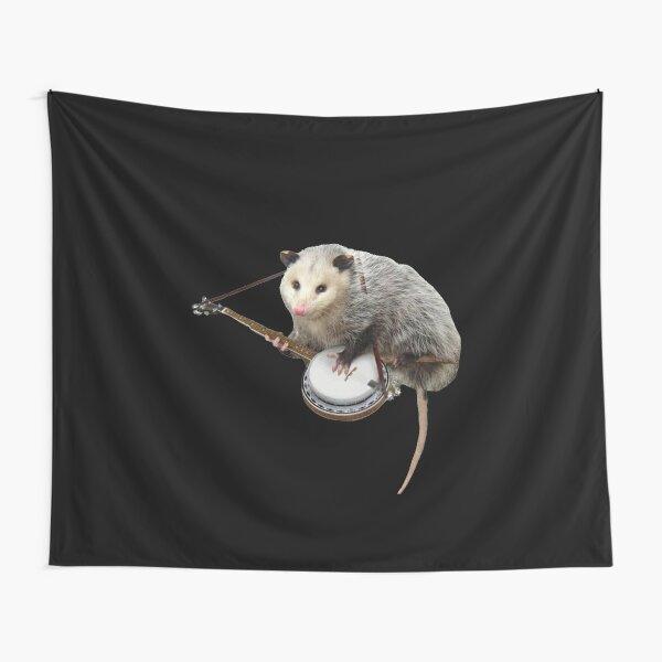 Opossum Playing Banjo Tapestry