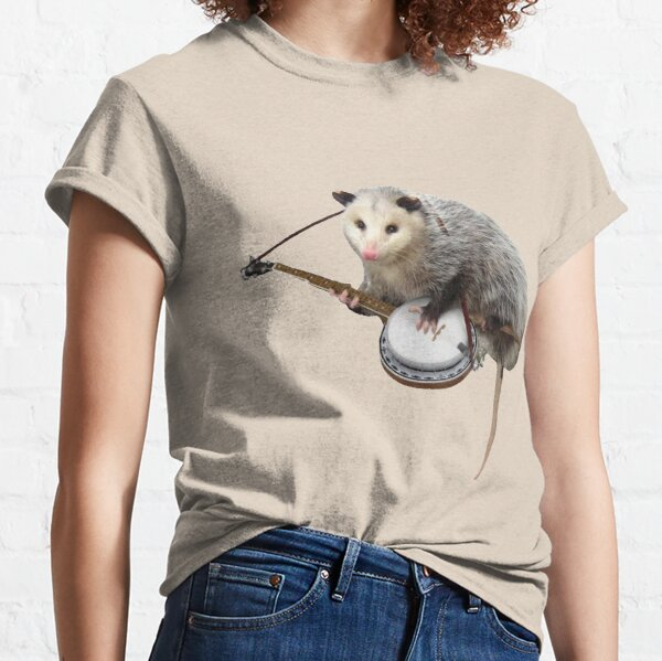 Opossum Playing Banjo Classic T-Shirt