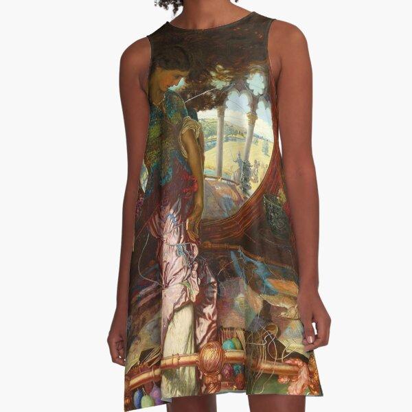 Lady of Shalott by Edward Robert Hughes  A-Line Dress