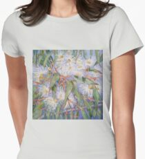 White gum blossom outside our window 2012Ⓒ. Oil on canvas Womens Fitted T-Shirt