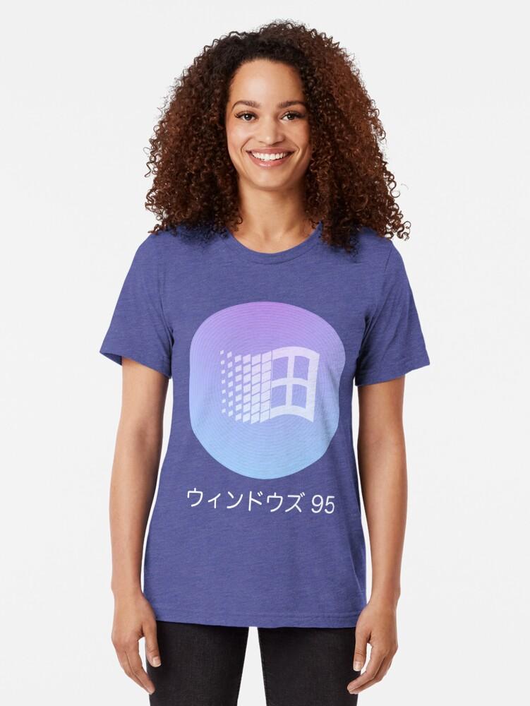 Vista alternativa de Camiseta de tejido mixto Windows 95 Vaporwave