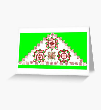 Trendy Triangles Greeting Card