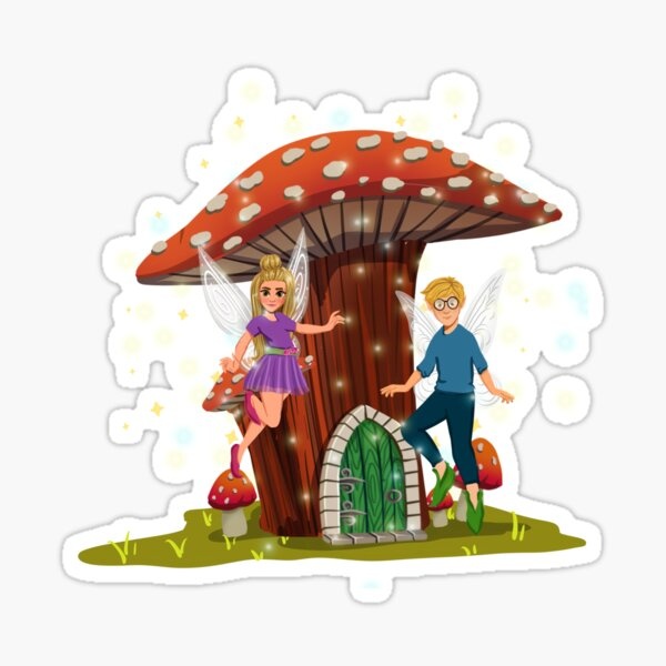 Tommy And Susan -Their Mushroom House™ Sticker
