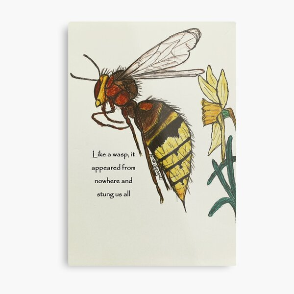 Wasp sting Metal Print
