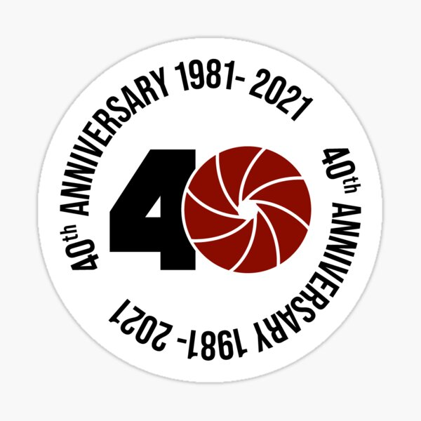 40th Anniversary Circle Sticker
