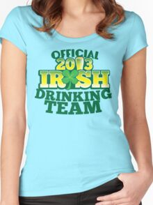 Official 2013 IRISH Shirt with beer pint and a shamrock Women's Fitted Scoop T-Shirt