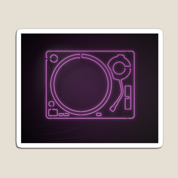 Neon Turntable 1 - 3D Art Magnet