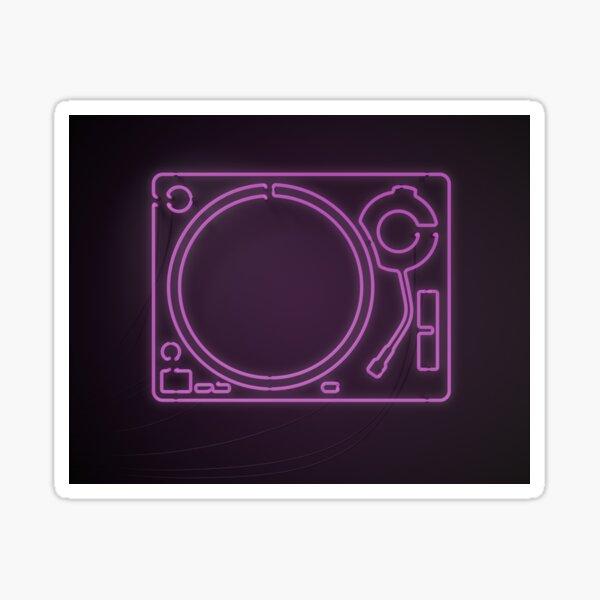 Neon Turntable 1 - 3D Art Sticker