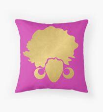 """Gold """"No Additives"""" Logo Throw Pillow"""
