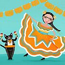 Dancing Frida and Kitty by Ryan Conners
