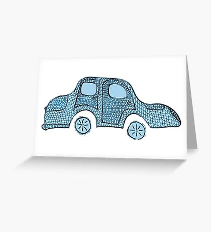 Blue moBile Greeting Card