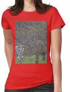 Gustav Klimt - Roses Under The Trees-   Gustav Klimt - Landscape Womens Fitted T-Shirt