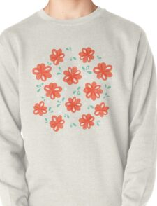 Cheerful Red Flowers Pattern T-Shirt