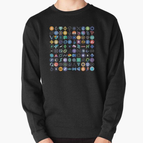 Crypto Logos 3D sur noir Sweatshirt épais