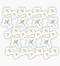 Origami Sunshine Sticker Sticker