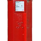 Old Victorian Red Post Box from Britain, London. Roter Briefkasten, England by Remo Kurka