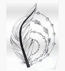 feather artwork Poster