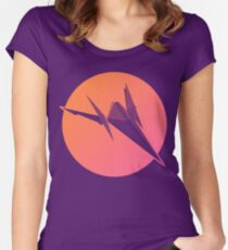 Sunset Arwing Women's Fitted Scoop T-Shirt