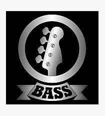 Metal bass Sign Photographic Print
