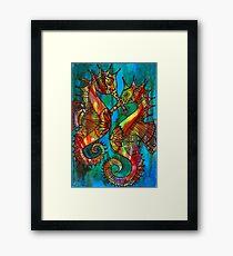 Seahorses - Kerry Beazley Framed Print