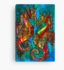 Seahorses - Kerry Beazley Canvas Print