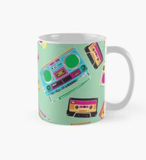 80's Music Boombox and Cassette tapes Classic Mug