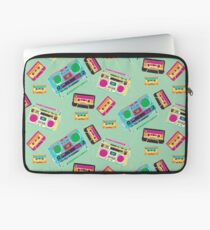 80's Music Boombox and Cassette tapes Laptop Sleeve