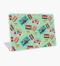 80's Music Boombox and Cassette tapes Laptop Skin