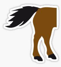 horse buttock horse silhouette silhouette shadow symbol logo stallion Sticker