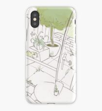 Coffee Shop Garden iPhone Case
