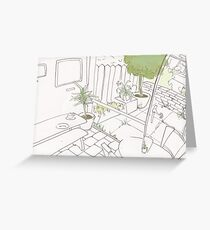 Coffee Shop Garden Greeting Card