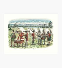 British Troops at the Battle of Quebec 1759 Art Print